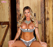 Busty Samantha Saint Pleases Her Snatch With Her Fingers 7