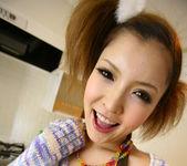 Riana Natsukawa Pretty Asian model gets cum on her face 15