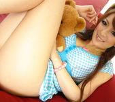 Aiko Nagai Asian babe in sexy dress sucks hard cock 2