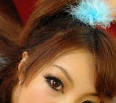 Aiko Nagai Asian babe in sexy dress sucks hard cock 5