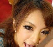 Aiko Nagai Asian babe in sexy dress sucks hard cock 6