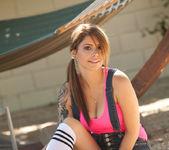 Hailey Leigh - Backyard In Overalls 4