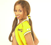 Maya, wearing a nice yellow sport suit 7