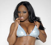 Smokin' Hot Ebony Beauty Jada Fire Lubes Up Her Big Tits 2