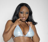 Smokin' Hot Ebony Beauty Jada Fire Lubes Up Her Big Tits 3