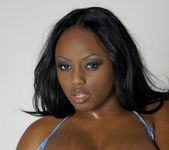 Smokin' Hot Ebony Beauty Jada Fire Lubes Up Her Big Tits 12