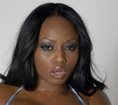 Smokin' Hot Ebony Beauty Jada Fire Lubes Up Her Big Tits 14
