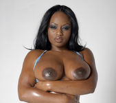 Smokin' Hot Ebony Beauty Jada Fire Lubes Up Her Big Tits 18