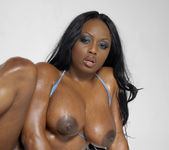 Smokin' Hot Ebony Beauty Jada Fire Lubes Up Her Big Tits 22