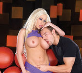 Gina Lynn having sex with Erik Everhard on a couch 2