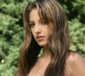 Jenna Haze outside with a dildo 9