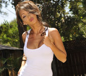 Katsuni Gets Wet N' Wild With The Hose In Her Back Yard 6