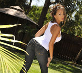 Katsuni Gets Wet N' Wild With The Hose In Her Back Yard 10