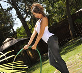 Katsuni Gets Wet N' Wild With The Hose In Her Back Yard 13