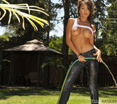 Katsuni Gets Wet N' Wild With The Hose In Her Back Yard 24