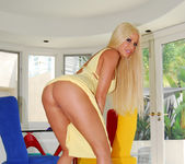 Gina Lynn Poses In Her Yellow Dress & Fucks 3