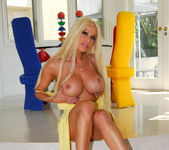 Gina Lynn Poses In Her Yellow Dress & Fucks 6