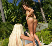Gina Lynn Strikes A Pose With Her Latina Friend Naomi 6