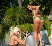 Gina Lynn Strikes A Pose With Her Latina Friend Naomi 10