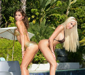 Gina Lynn Strikes A Pose With Her Latina Friend Naomi 12