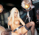 Platinum Blonde Gina Lynn Plays With Her Tight Pussy 13