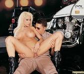 Busty blonde Gina Lynn sucks and fucks a cop 14