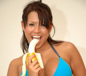 Eva Angelina getting naughty with a banana 11