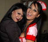Eva Angelina and her hot nurse friend 15