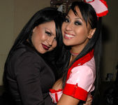 Eva Angelina and her hot nurse friend 16