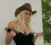 Cowgirl Gina Lynn Strips Down Naked 2