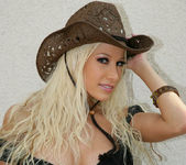 Cowgirl Gina Lynn Strips Down Naked 7