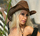 Cowgirl Gina Lynn Strips Down Naked 14