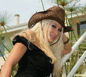 Cowgirl Gina Lynn Strips Down Naked 19