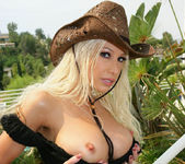 Cowgirl Gina Lynn Strips Down Naked 24