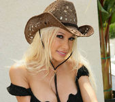 Cowgirl Gina Lynn Strips Down Naked 29