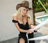 Cowgirl Gina Lynn Strips Down Naked 30
