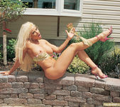 Gina Lynn Oils Up And Poses 16