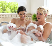 Brandy Talore & Sara Stone take a bath 11