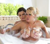 Brandy Talore & Sara Stone take a bath 17