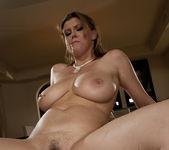 Alanah Rae & Sara Stone share a cock 8