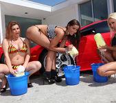 Pornstar Car Wash and Lesbian Group Sex 10
