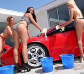 Pornstar Car Wash and Lesbian Group Sex 12