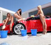 Pornstar Car Wash and Lesbian Group Sex 17
