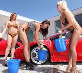 Pornstar Car Wash and Lesbian Group Sex 18