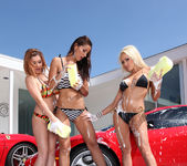 Pornstar Car Wash and Lesbian Group Sex 23