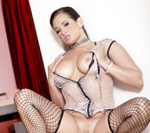 Tory Lane Masturbating with Fish Nets and Pantyhose 23