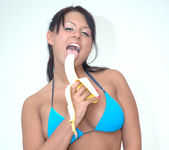 Eva Angelina Stripping, Masturbating, and Eating a Banana 5