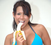 Eva Angelina Stripping, Masturbating, and Eating a Banana 7