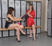 Sara Stone and Chavon Taylor Fucking in the Locker Room 9