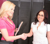 Alexis Texas and Zoe Britton - Sex at the Home Office 4